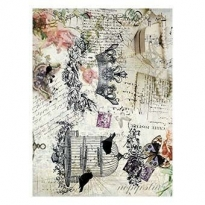 Model 154 -Rice Paper Decoupage