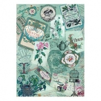 Model 201 -Rice Paper Decoupage