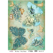 Model 419 - Rice Paper Decoupage