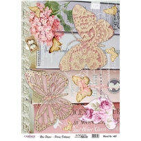 Model 420 - Rice Paper Decoupage