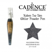 Glıtter Powder Pen - Halogram Black