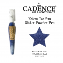 Gılıtter Powder Pen - Halogram Blue