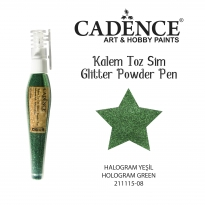 Glıtter Powder Pen - Halogram Green