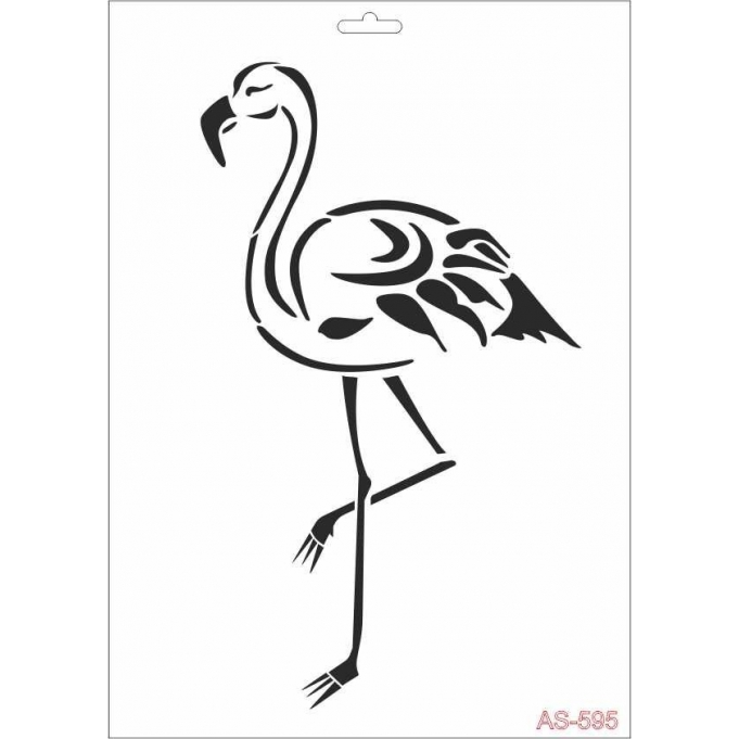 AS595 Flamingo - A4 Stencil