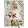 Model 654- Rice Paper Decoupage